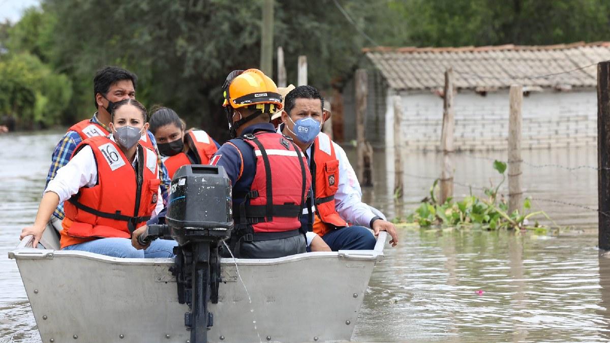 Diego Sinhue: Continúa apoyo en zonas afectadas por inundaciones