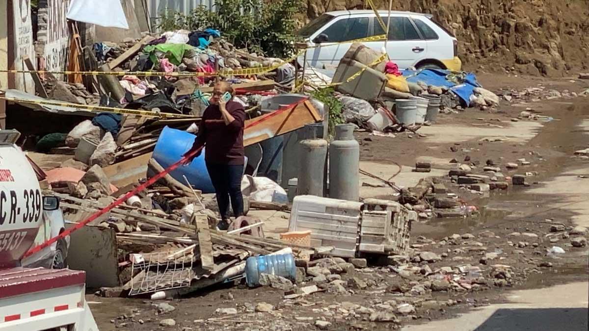 Ecatepec: reubicarán a familias afectadas por deslave