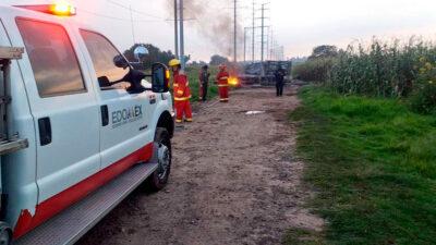 Edomex: Huachicoleros causan incendio de ductos de Pemex en Acolman