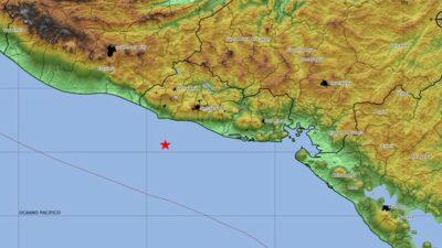 El Salvador: Reportan sismo de 5.3 con epicentro en el océano Pacífico