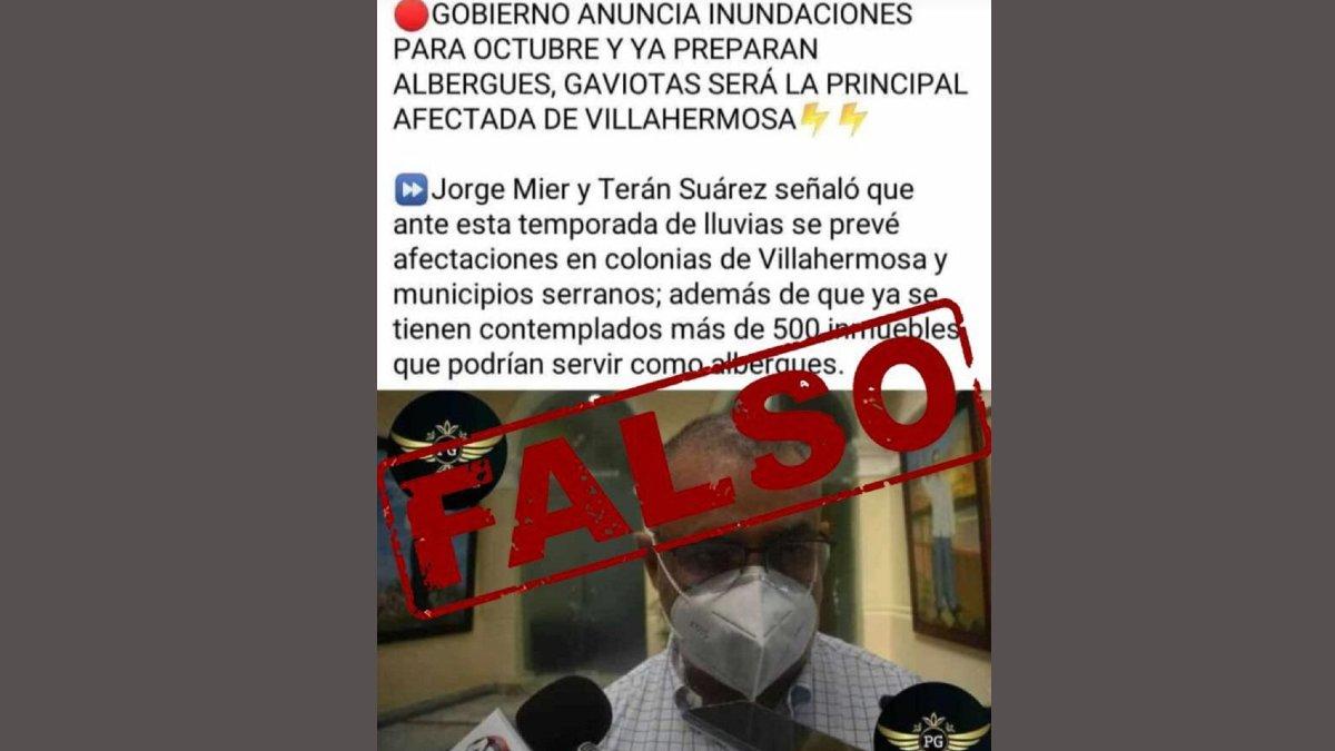FALSA INFORMACION TABASCO