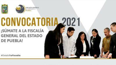 Puebla: Fiscalía solicita profesionistas en varias vacantes de empleo