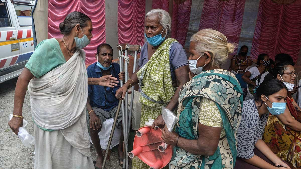 Las mujeres de la aldea en India dijeron que la orden había tenido un impacto positivo. Foto: AFP