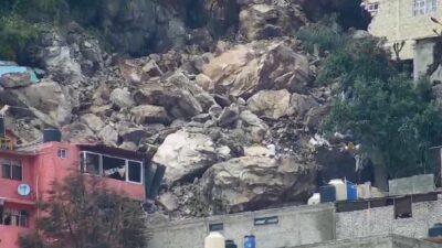 Estado de México: Se desgaja cerro del Chiquihuite en Tlalnepantla