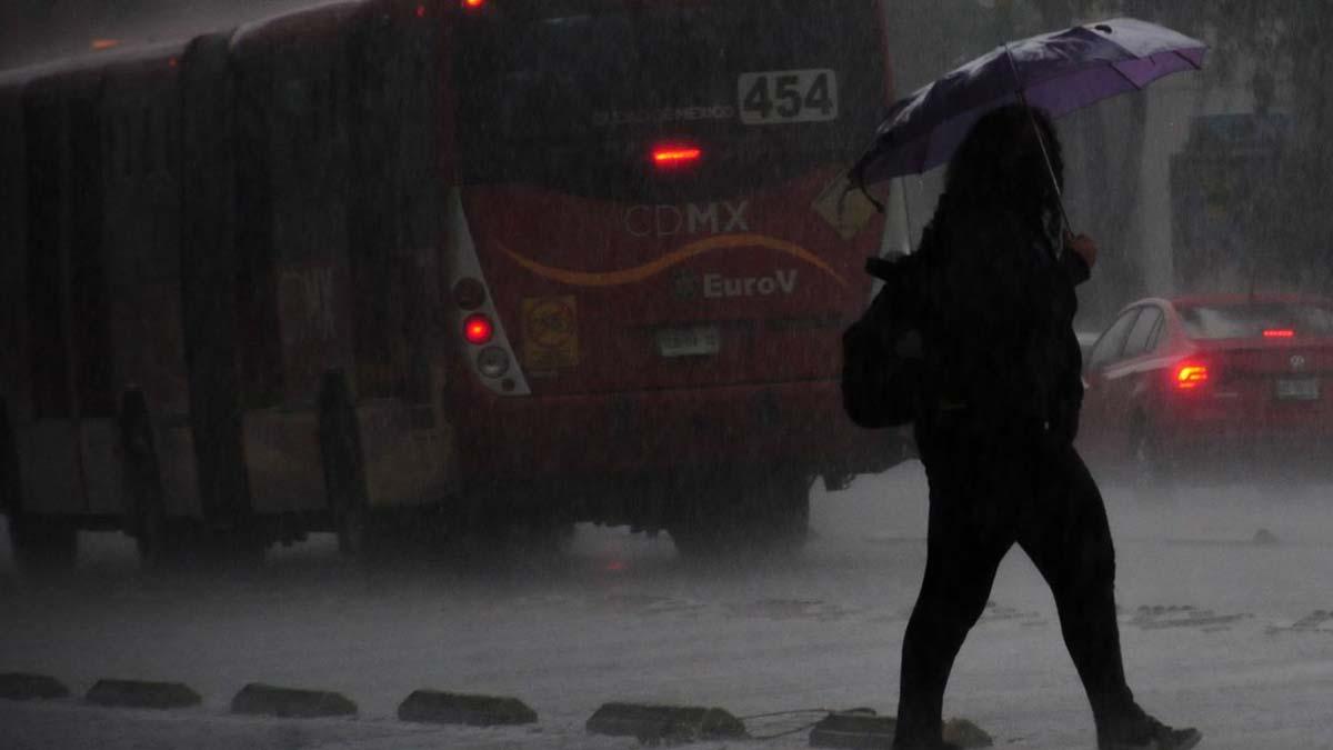 Se registran lluvias en alcaldías de Ciudad de México