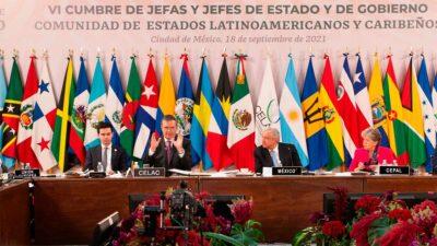 Ebrard expresó que la cumbre da esperanza y aliento para consolidar el trabajo de la CELAC. Foto: Gobierno de México