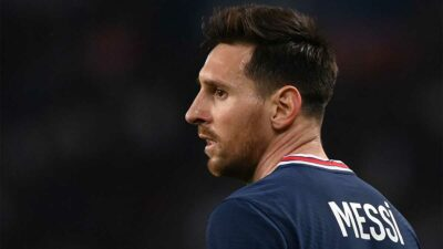 Messi fue titular por primera vez en el campeonato francés y salió al 76'. Foto: AFP
