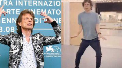 Mick Jagger bailando