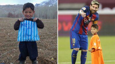 Murtaza Ahmadi Messi Plastico Ayuda