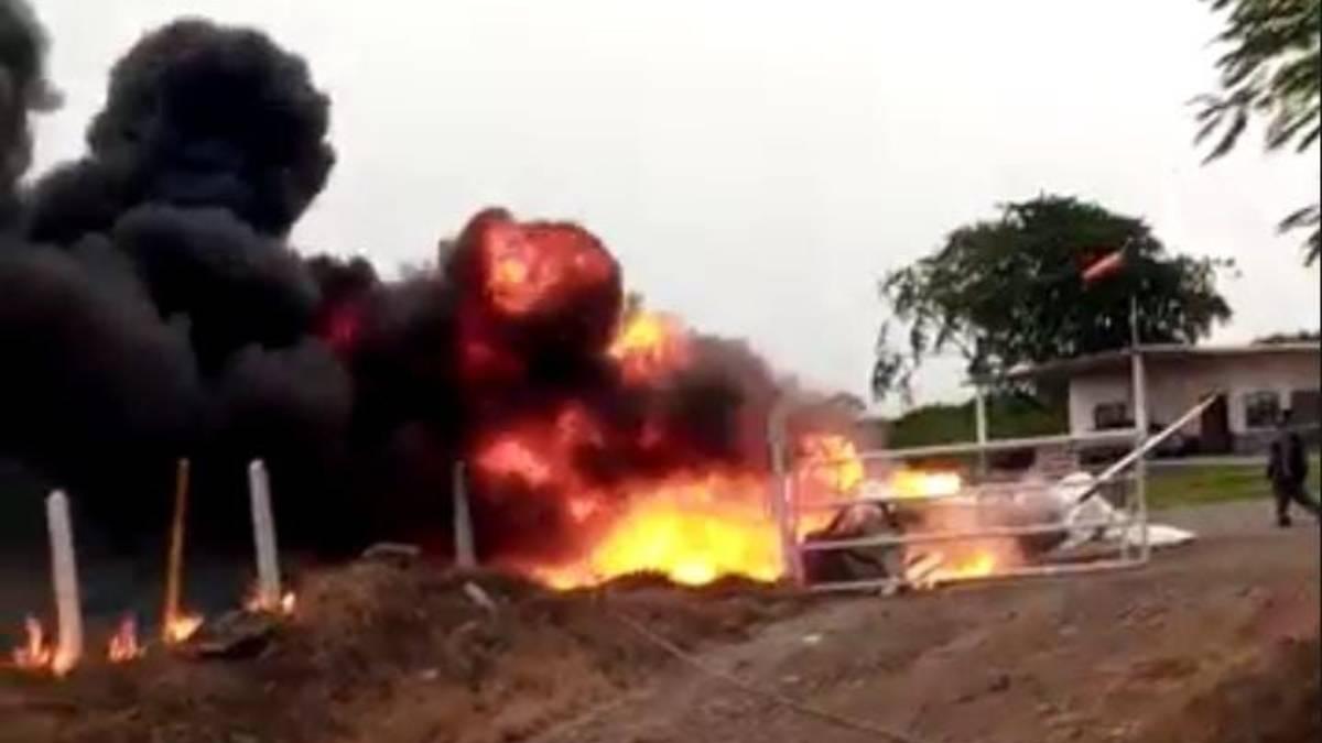 Videos e imágenes: avioneta cae y se incendia en Veracruz; el piloto murió