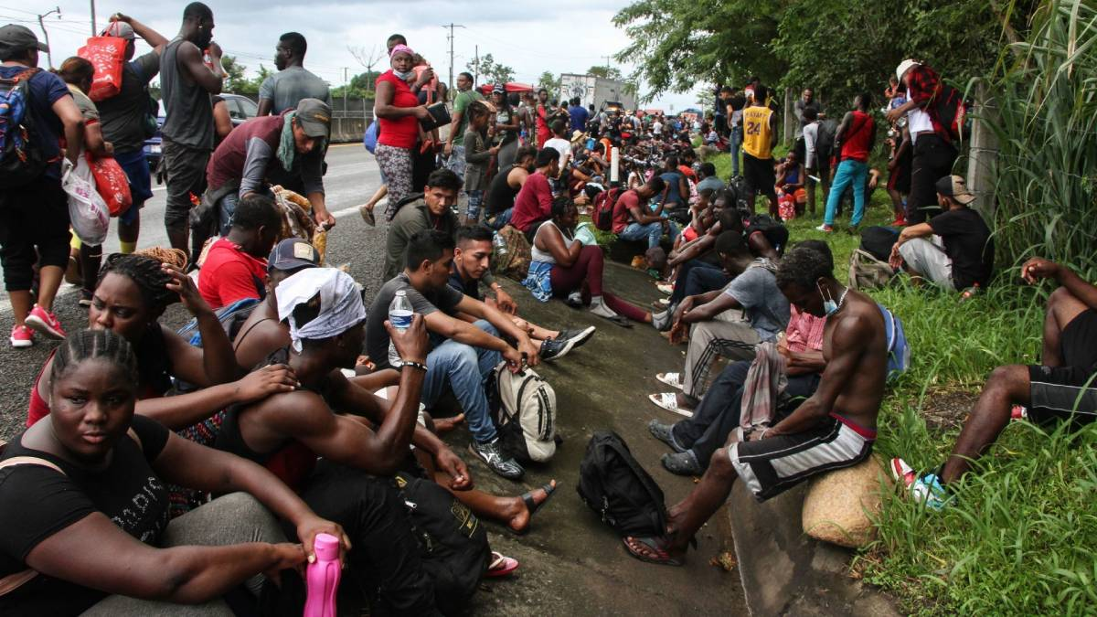 Caravana migrante Huixtla