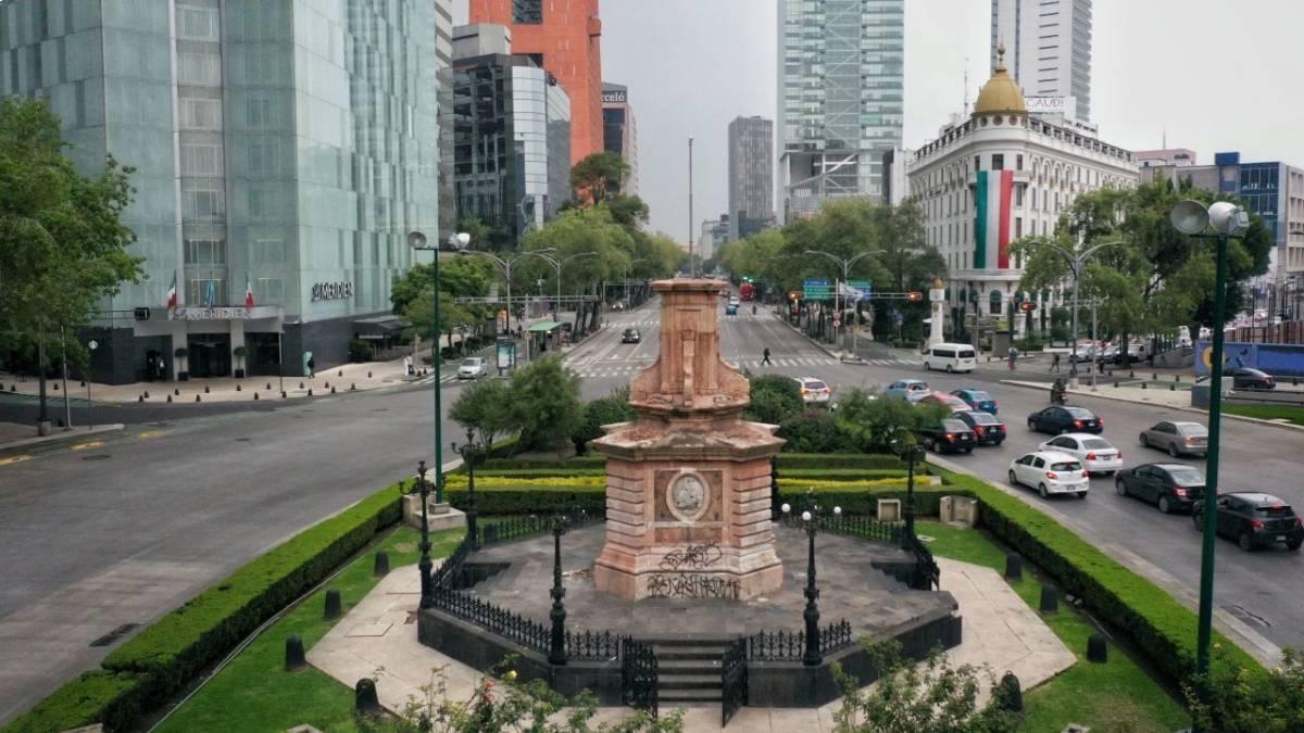 Cristóbal Colón Parque América INAH