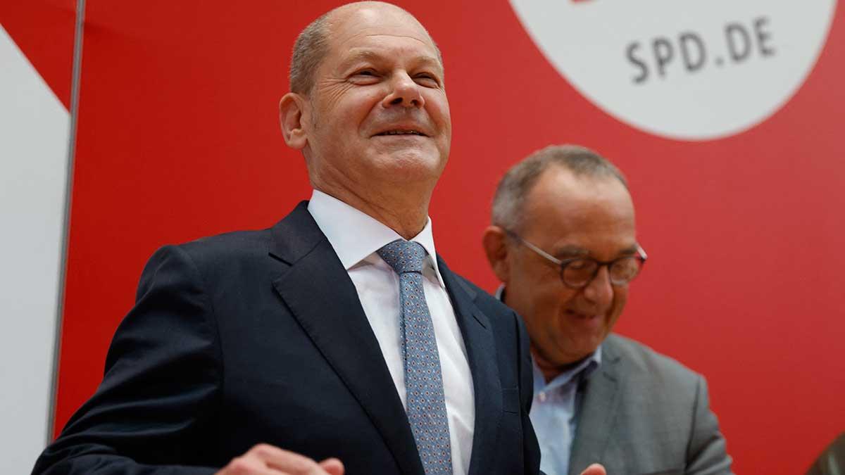 Los socialdemócratas desean formar un ejecutivo de coalición con Olaf Scholz como canciller. Foto: AFP