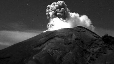 Volcán Popocatépetl: registra dos sismos volcanotectónicos
