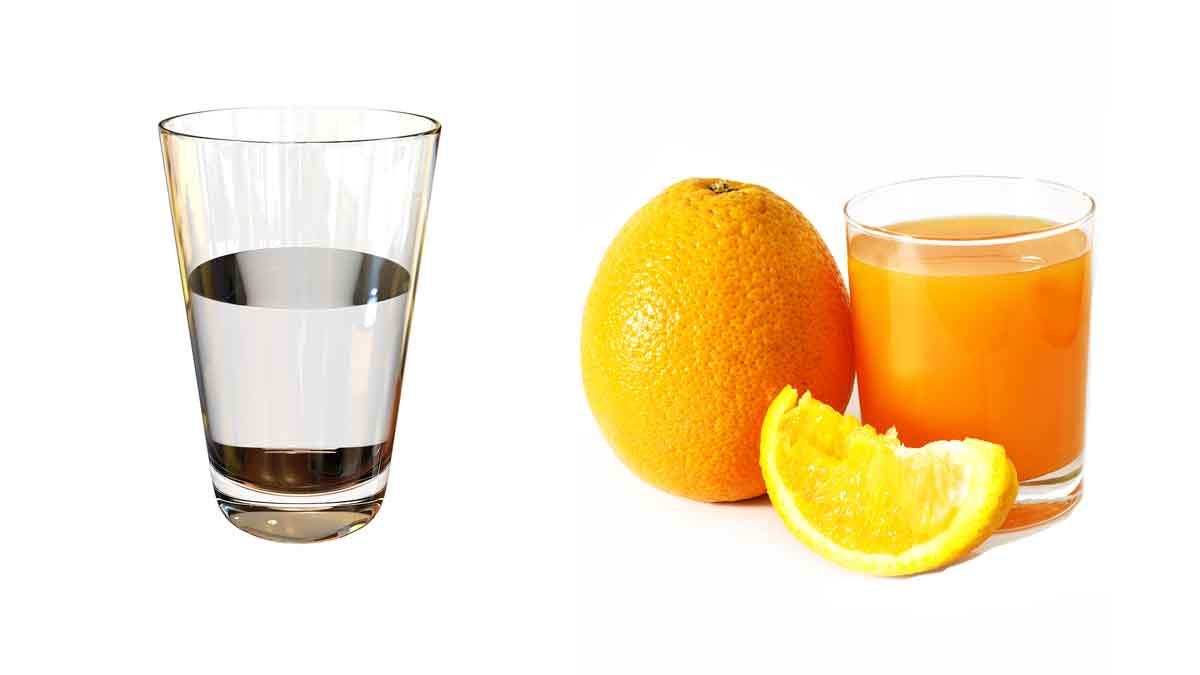 que es mejor jugo o agua