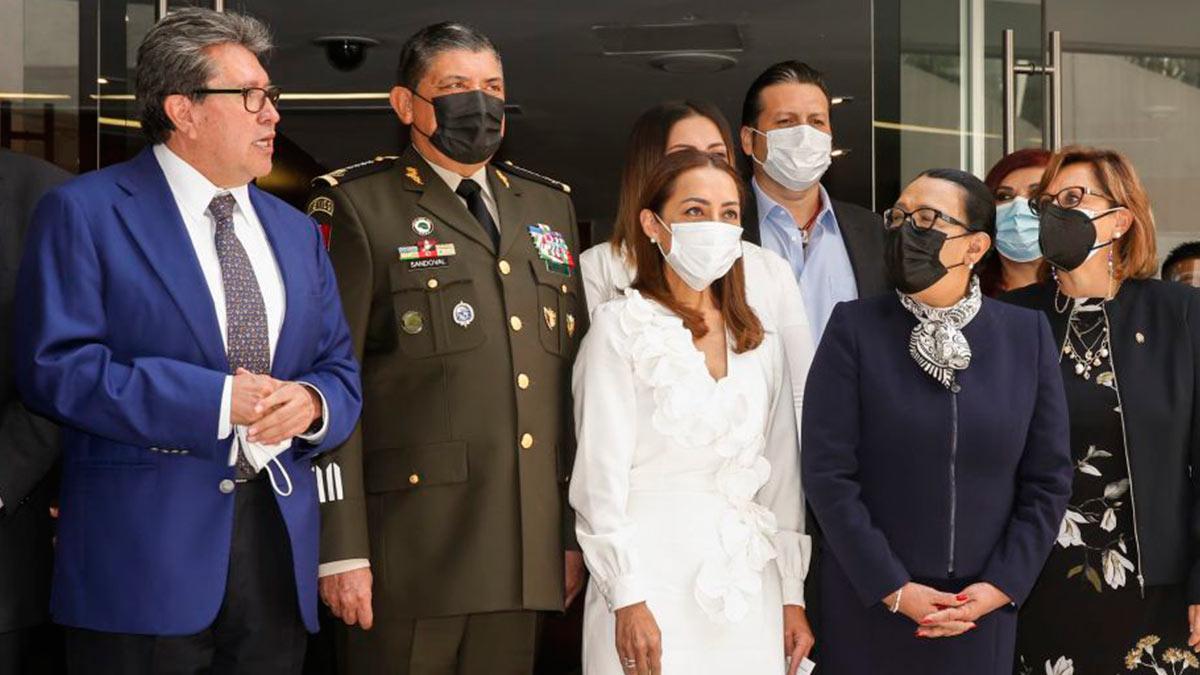 Rosa Icela Rodríguez, titular de Seguridad y Protección Ciudadana, comparece en el Senado