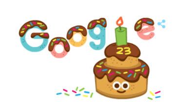 google celebra sus 23 años