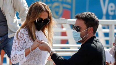 Ben Affleck y Jlo juntos en Venecia