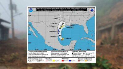 Tamaulipas: tormenta Nicholas amenaza con fuertes lluvias