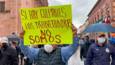 Zacatecas: maestros y trabajadores paralizan vialidades