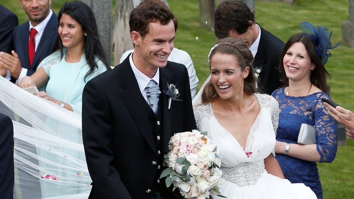 Andy Murray está casado con Kim Sears desde 2015