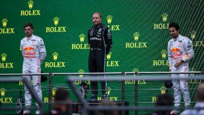 Checo Pérez tiene gran actuación en el GP de Turquía y sube al podio