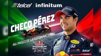 Checo Reforma Red Bull Show Run