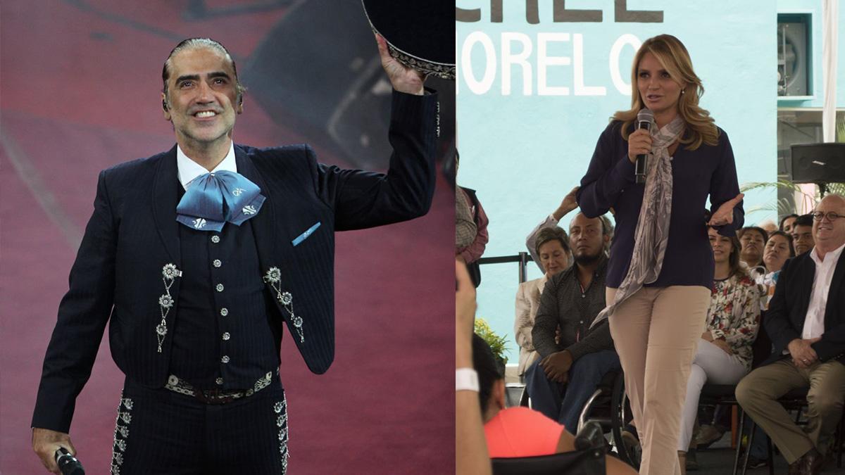 Alejandro Fernández posa junto a Angélica Rivera y les llueven críticas