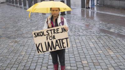 Greta Thunberg canta en evento contra el cambio climático