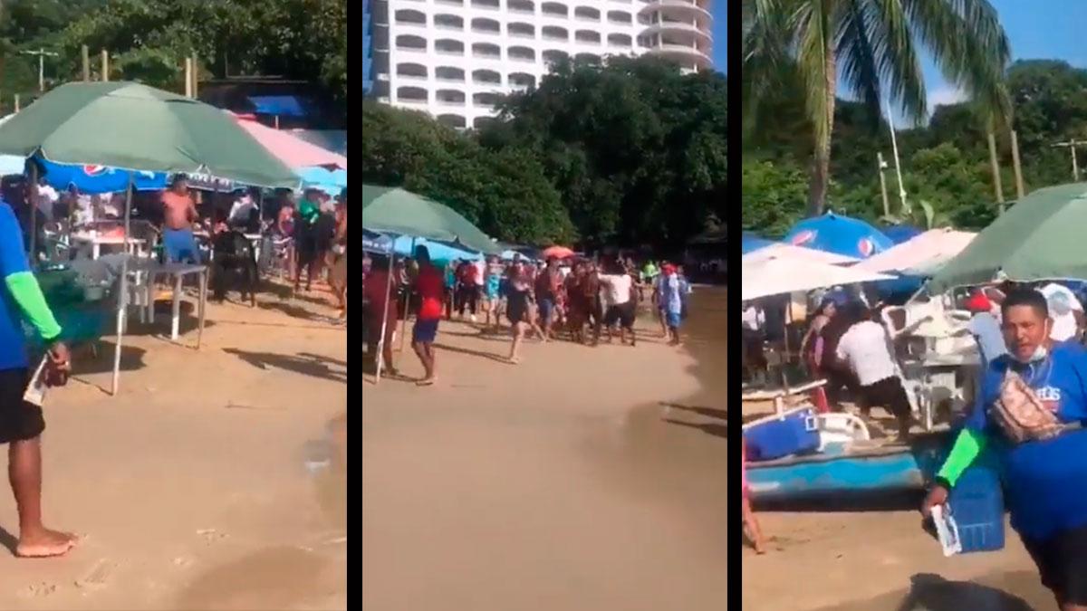 Guerrero: viralizan pelea en playa de Caleta, en Acapulco
