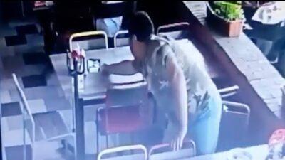 Jalisco: Hombre roba cuenta de la mesa contigua en restaurante de Chapala