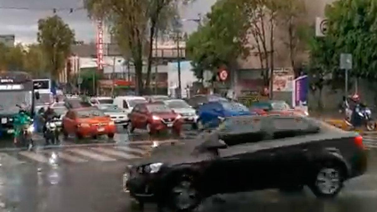 Lluvia en Ciudad de México afecta varias alcaldías