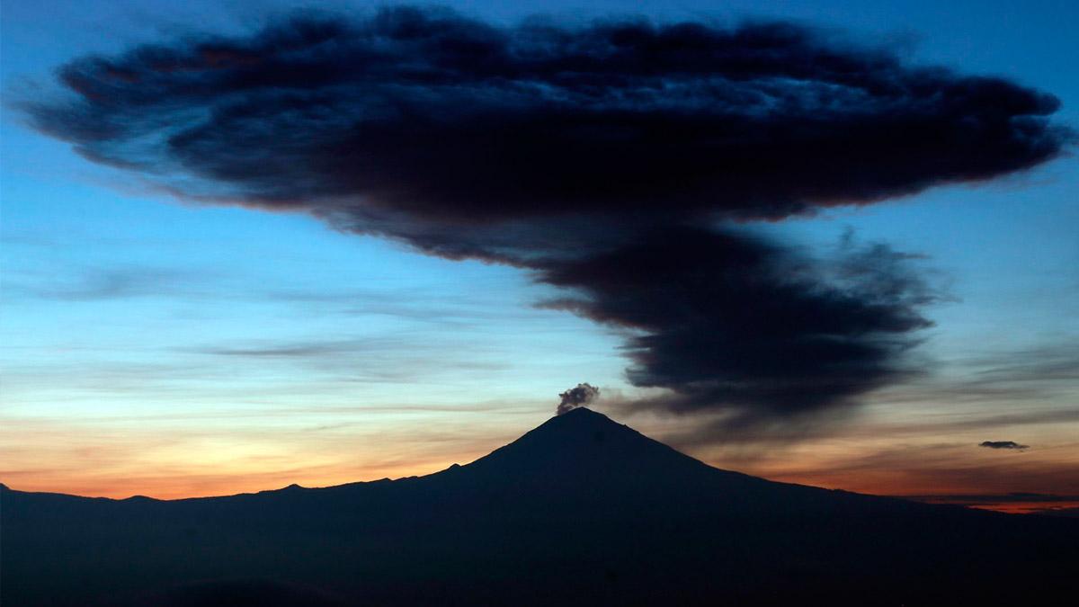 Volcán Popocatépetl registra esta explosión moderada