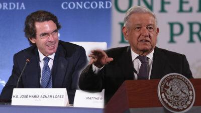 El pleito entre José María Aznar y Andrés Manuel López Obrador