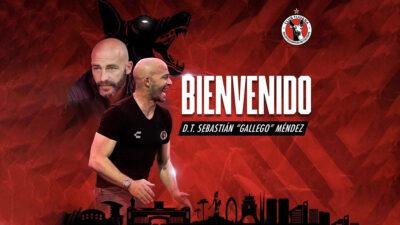 Xolos confirma a Sebastián Méndez como su nuevo DT