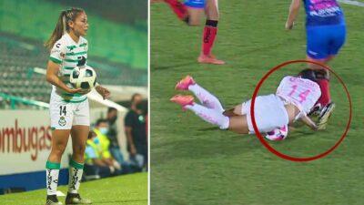 Jugadora de Santos sufre aparatosa lesión durante partido