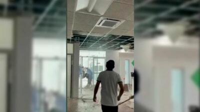 Sinaloa: video de caída de plafones en edificio de gobierno se viraliza