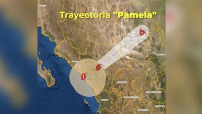 Huracán Pamela se degrada, otra vez, a tormenta tropical