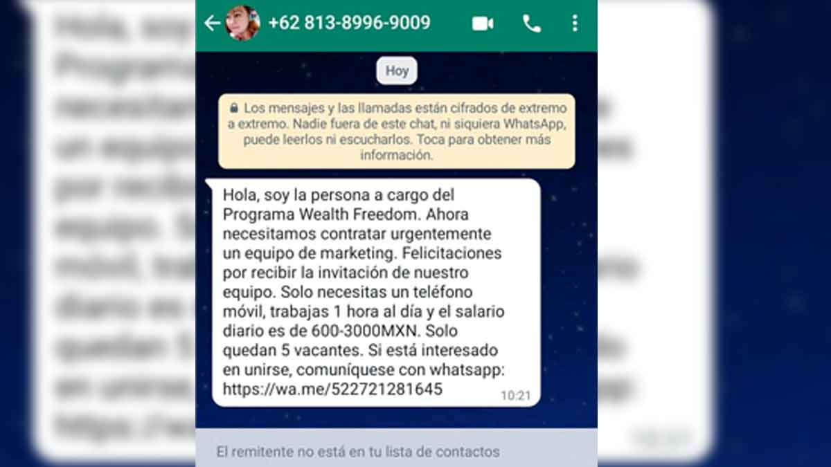 whatsapp phishing fraude