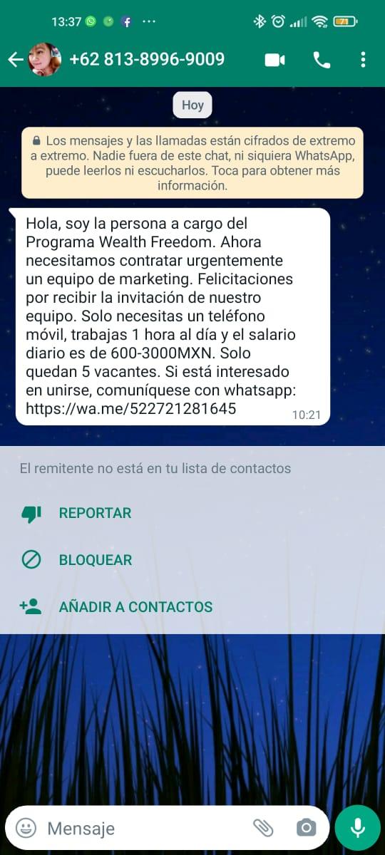 whatsapp fraude phishing