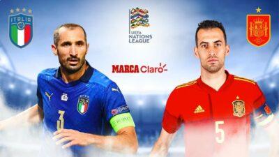 Italia vs España, en directo
