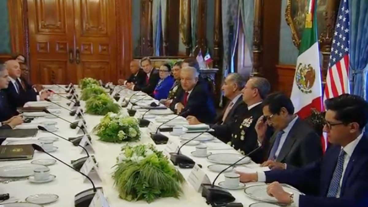 AMLO se reúne con Antony Blinken y otros funcionarios de EU